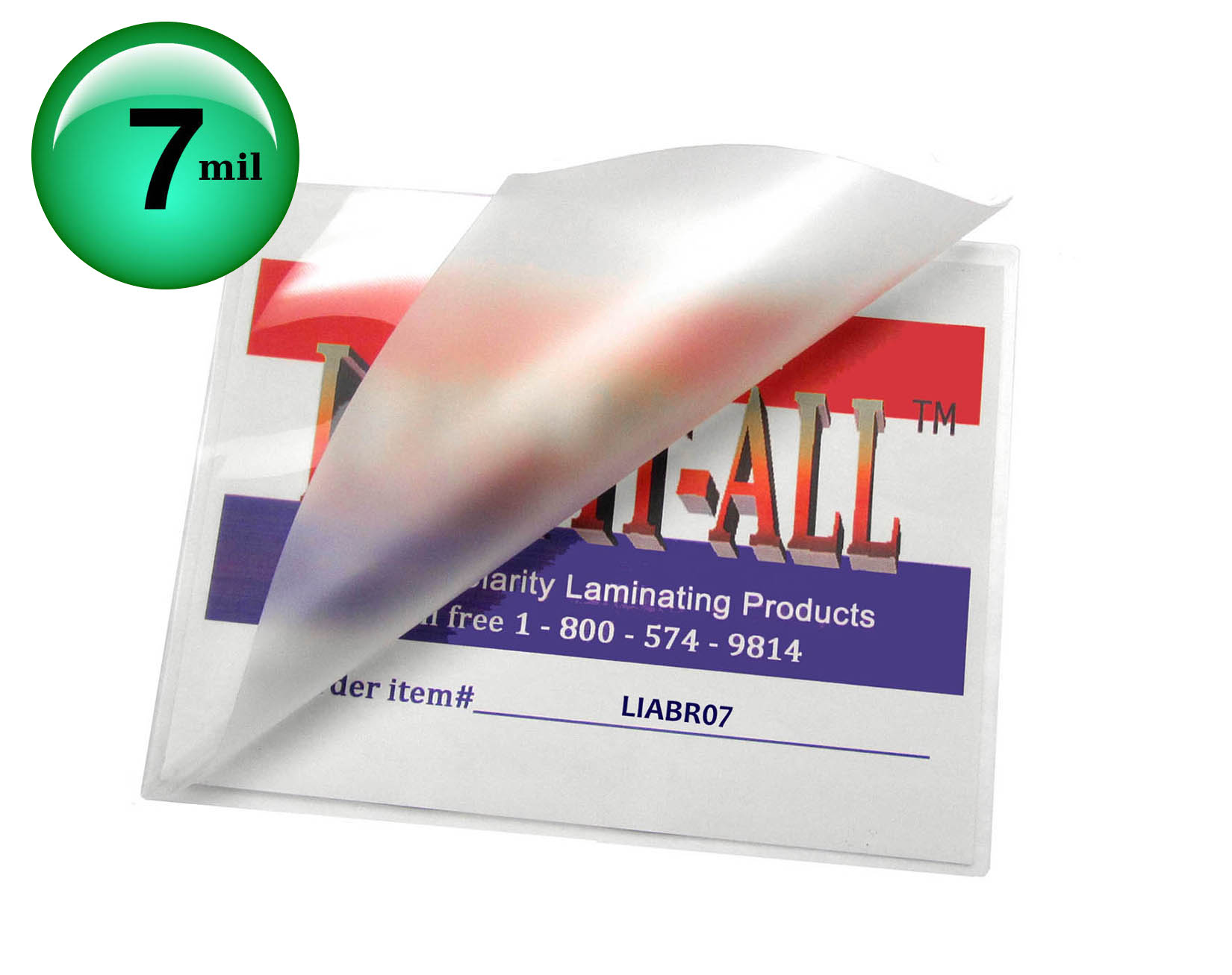 Hot Laminating Pouches Brochure 7 Mil Display